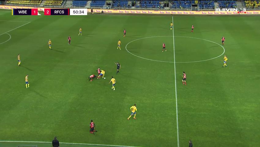 Doelpunt Danel Sinani (Waasland-Beveren vs. RFC Seraing)