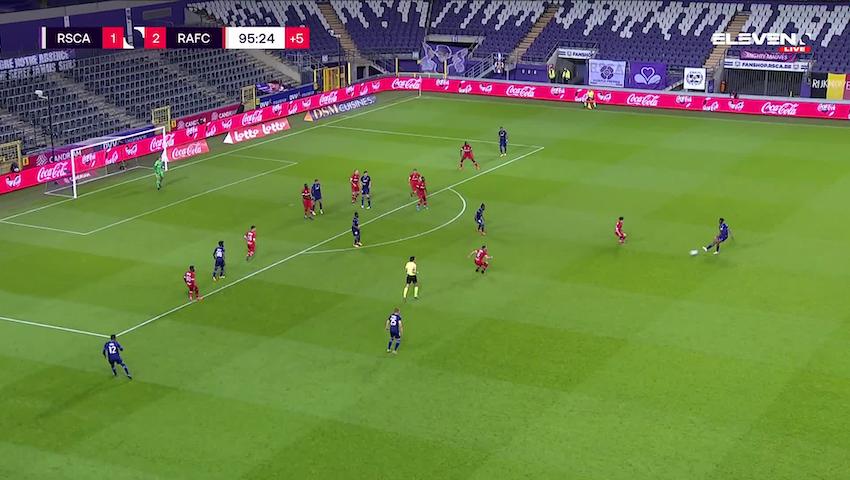 Doelpunt Matt Miazga (RSC Anderlecht vs. Royal Antwerp FC)