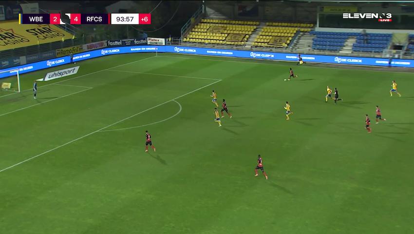 Doelpunt Antoine Bernier (Waasland-Beveren vs. RFC Seraing)