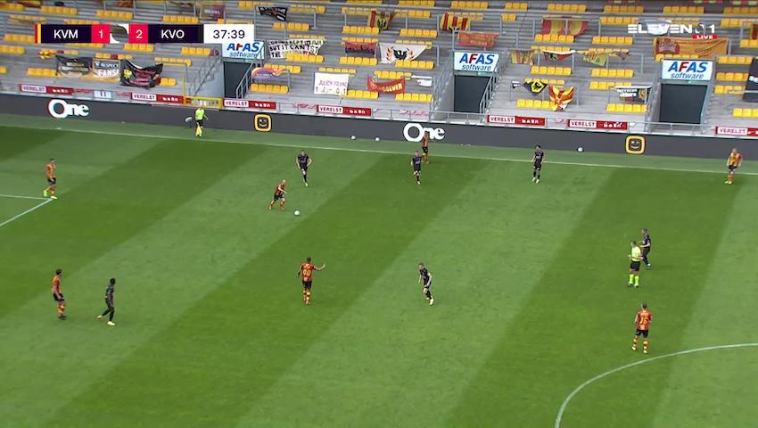 Doelpunt Kerim Mrabti (KV Mechelen vs. KV Oostende)