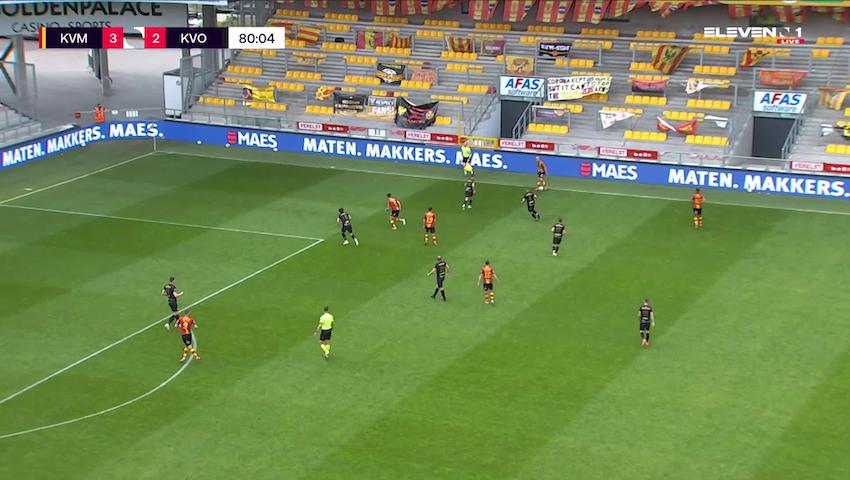 Doelpunt Andrew Hjulsager (KV Mechelen vs. KV Oostende)