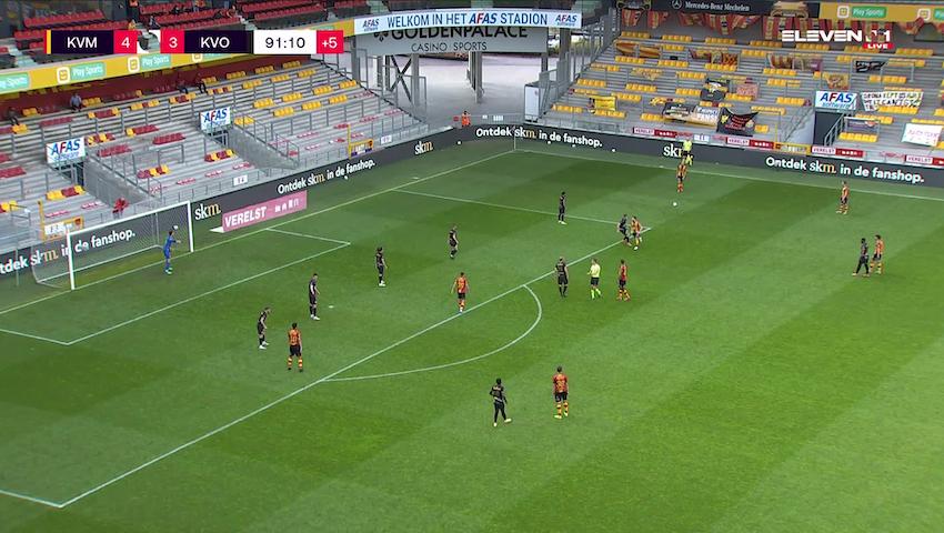 Doelpunt Igor Alberto Rinck de Camargo (KV Mechelen vs. KV Oostende)