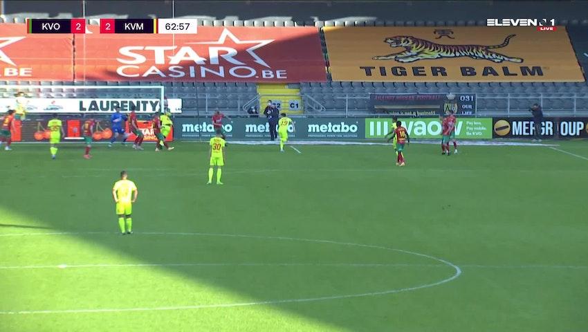 Doelpunt Sheldon Bateau (KV Oostende vs. KV Mechelen)