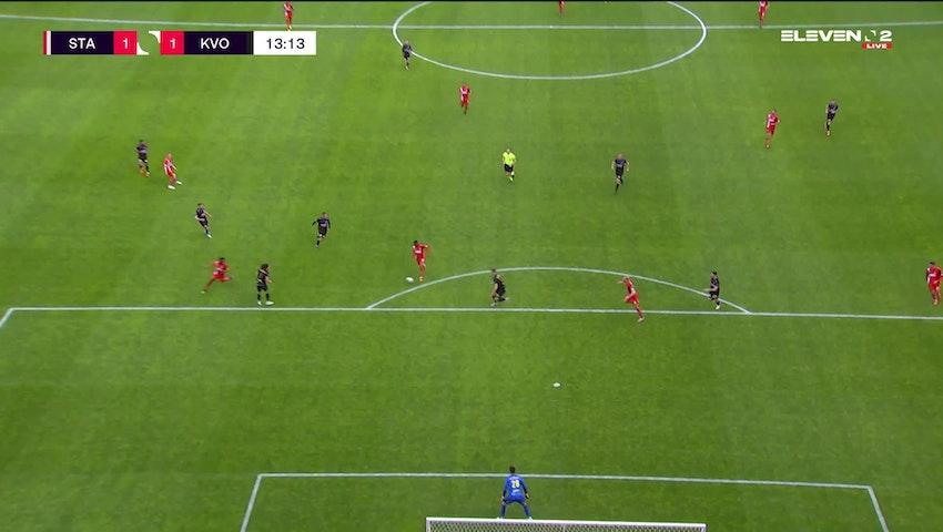 Doelpunt Michel Ange Balikwisha (Standard de Liège vs. KV Oostende)