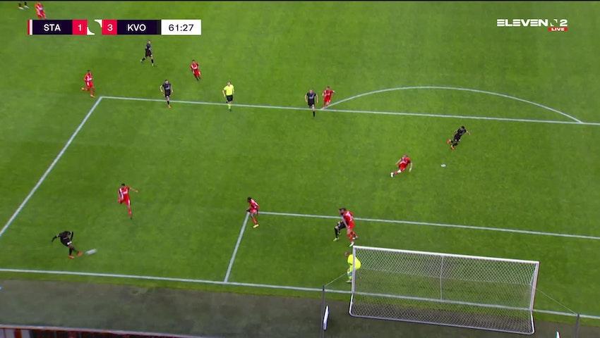 Doelpunt Kevin Vandendriessche (Standard de Liège vs. KV Oostende)