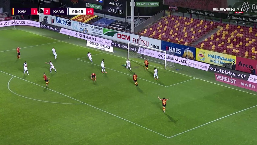Résumé KV Mechelen vs. KAA Gent