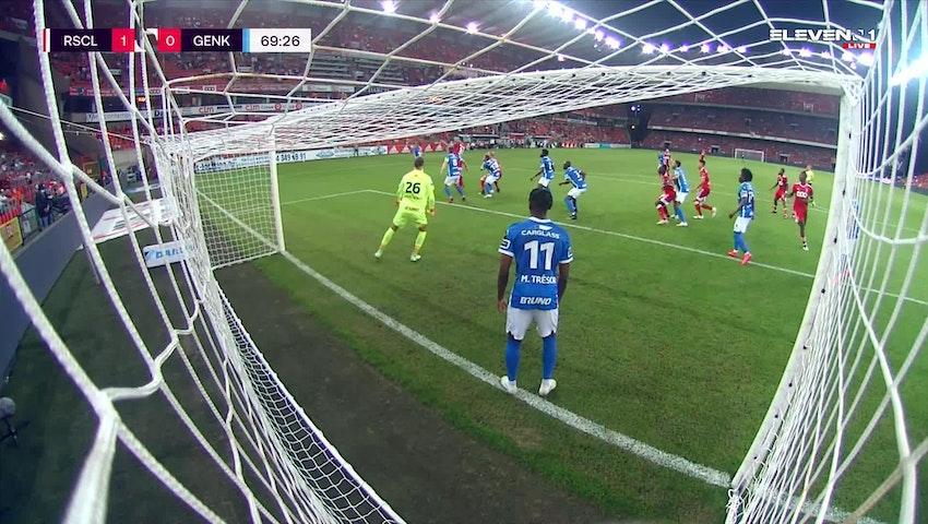 Doelpunt Konstantinos Laifis (Standard de Liège vs. KRC Genk)