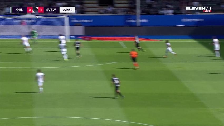 Doelpunt Jelle Vossen (OH Leuven vs. SV Zulte Waregem)
