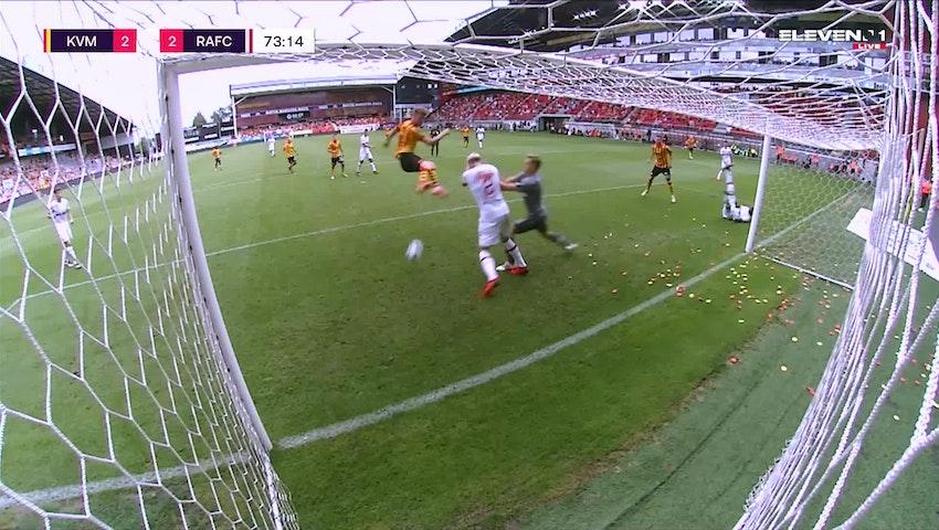 Doelpunt Ferdy Druijf (KV Mechelen vs. Royal Antwerp FC)