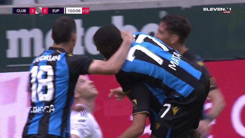 Doelpunt Charles De Ketelaere (Club Brugge vs. KAS Eupen)