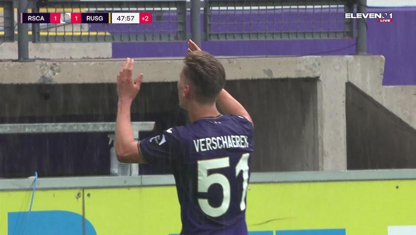 Doelpunt Yari Verschaeren (RSC Anderlecht vs. Union Saint-Gilloise)