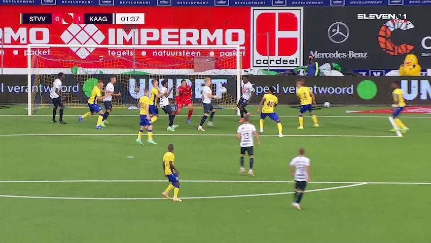 Doelpunt Andreas Hanche-Olsen (STVV vs. KAA Gent)