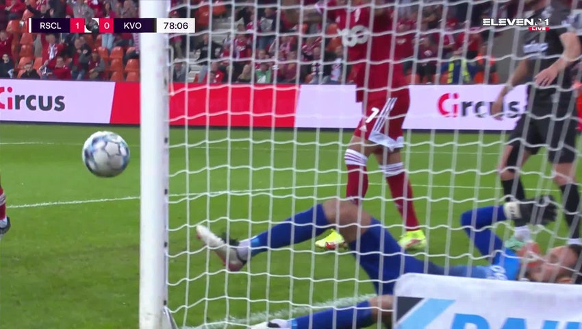Doelpunt Selim Amallah (Standard de Liège vs. KV Oostende)