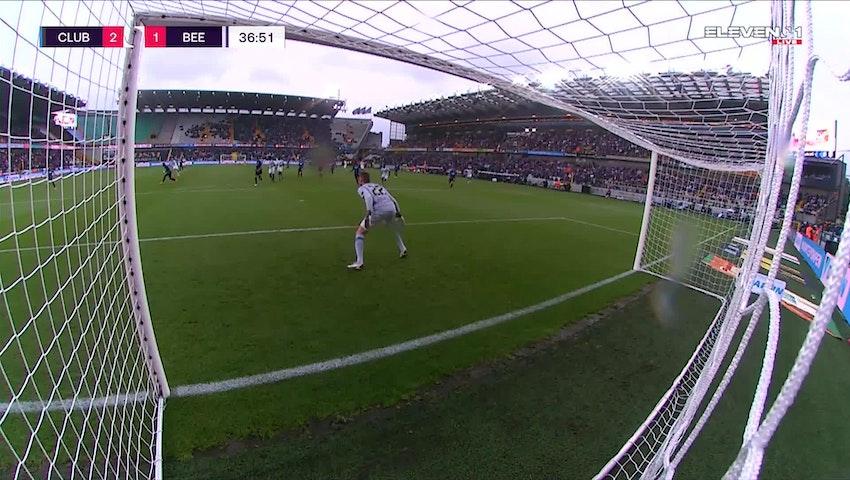 Doelpunt Joroen Dom (Club Brugge vs. K. Beerschot V.A.)