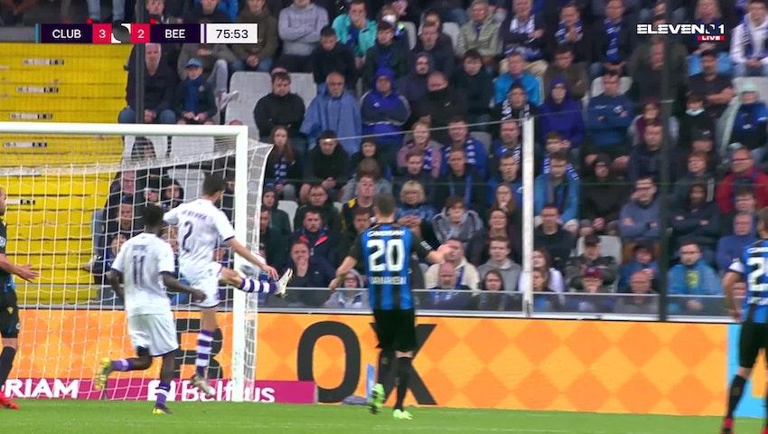 Doelpunt Jan Van den Bergh (Club Brugge vs. K. Beerschot V.A.)
