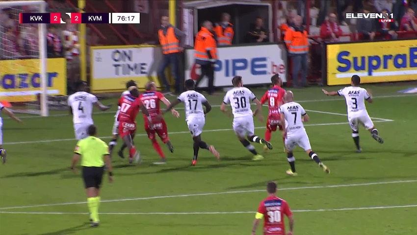 But Pape Habib Gueye (KV Kortrijk vs. KV Mechelen)
