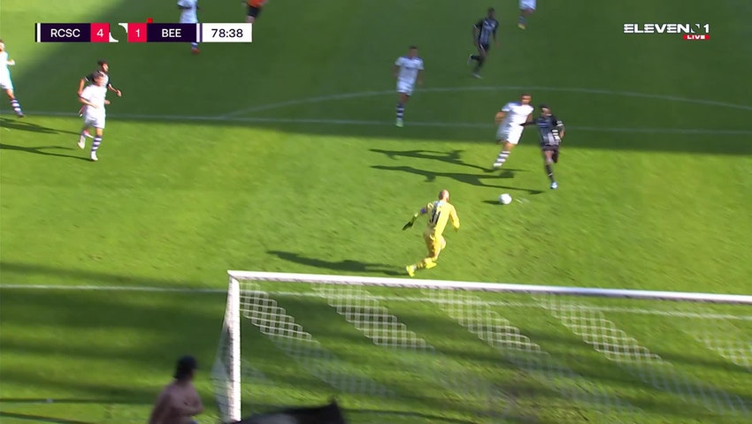 Doelpunt Shamar Nicholson (Sporting Charleroi vs. K. Beerschot V.A.)