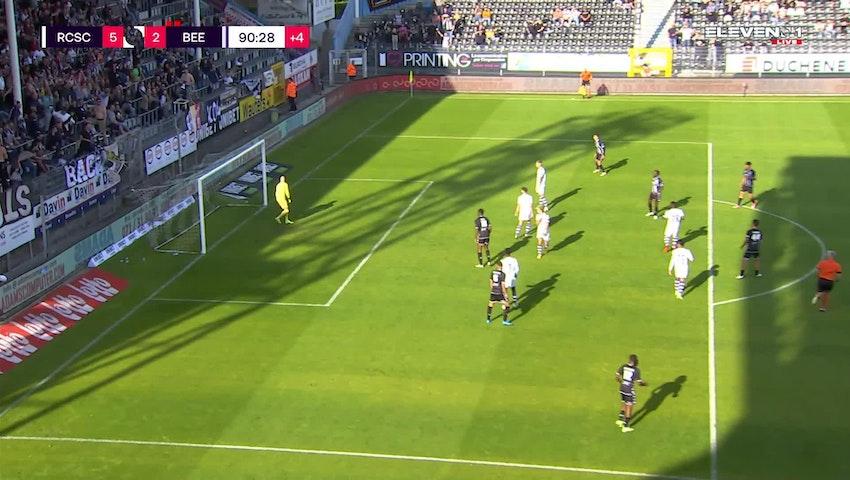 Doelpunt Ryota Morioka (Sporting Charleroi vs. K. Beerschot V.A.)