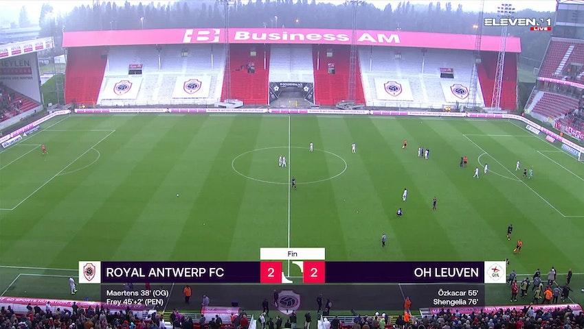 Résumé Royal Antwerp FC vs. OH Leuven