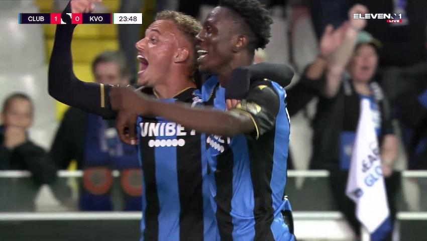 But Noa Lang (Club Brugge vs. KV Oostende)