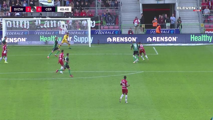 But Zinho Gano (SV Zulte Waregem vs. Cercle Brugge)