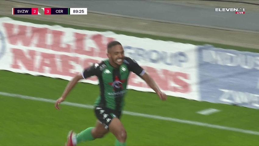 Doelpunt Victor Alexander da Silva (SV Zulte Waregem vs. Cercle Brugge)