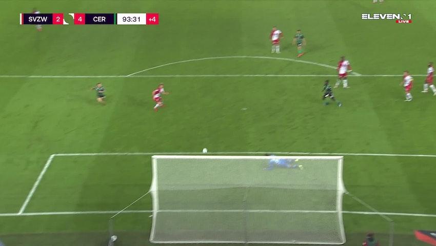 But Dino Hotic (SV Zulte Waregem vs. Cercle Brugge)