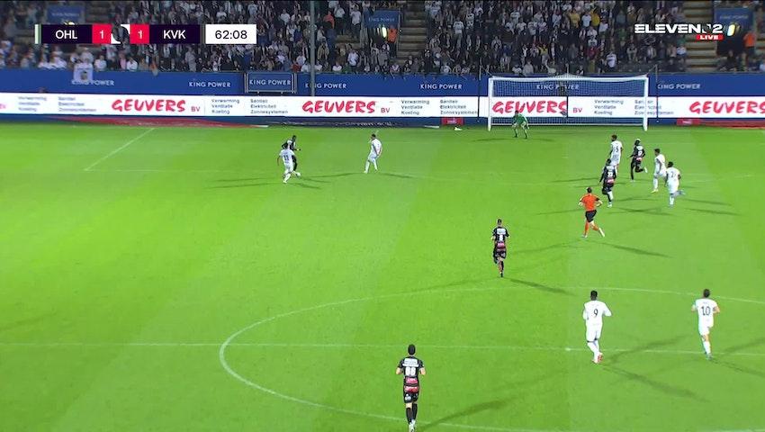 Doelpunt Faiz Selemani (OH Leuven vs. KV Kortrijk)