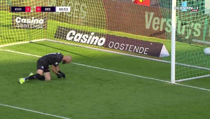 But Alfons Amade (KV Oostende vs. K. Beerschot V.A.)