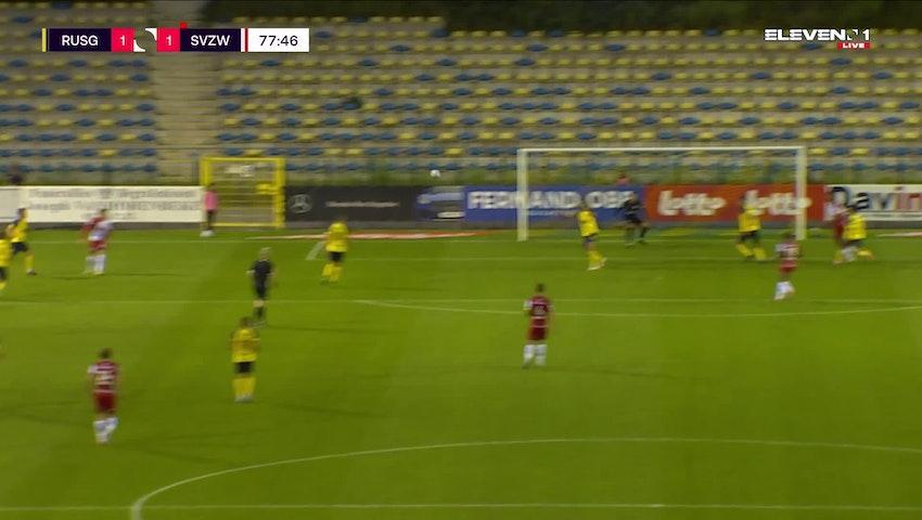 Doelpunt Zinho Gano (Union Saint-Gilloise vs. SV Zulte Waregem)