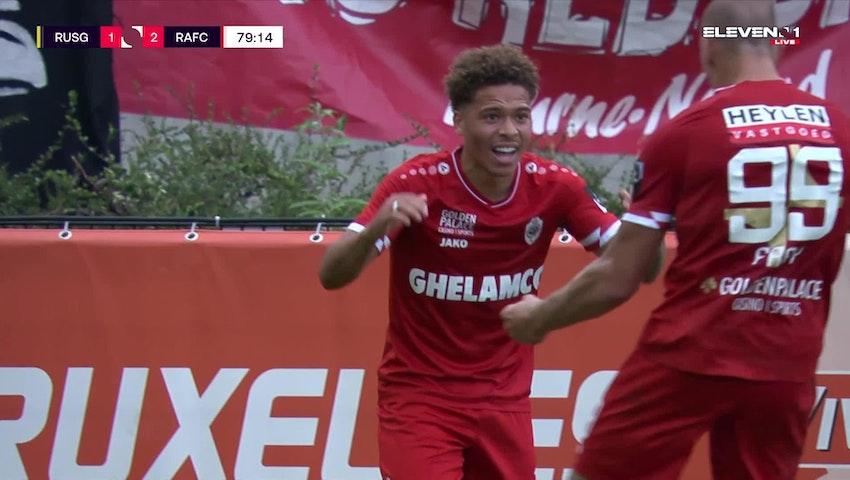 Doelpunt Manuel Benson (Union Saint-Gilloise vs. Royal Antwerp FC)