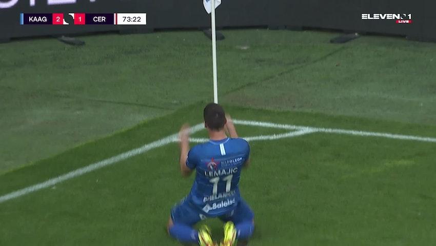 Doelpunt Darko Lemajic (KAA Gent vs. Cercle Brugge)