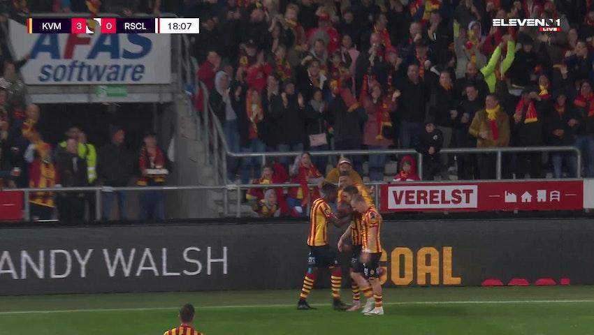 Doelpunt Sandy Walsh (KV Mechelen vs. Standard de Liège)