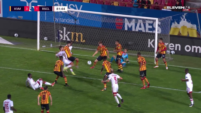Doelpunt Denis Dragus (KV Mechelen vs. Standard de Liège)