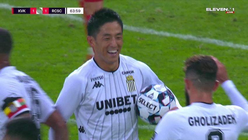 Doelpunt Shamar Nicholson (KV Kortrijk vs. Sporting Charleroi)