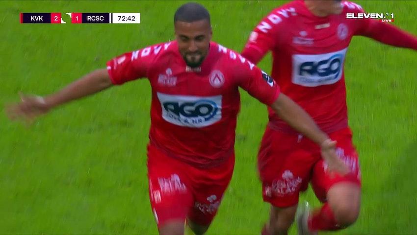 Doelpunt Rachid Alioui (KV Kortrijk vs. Sporting Charleroi)