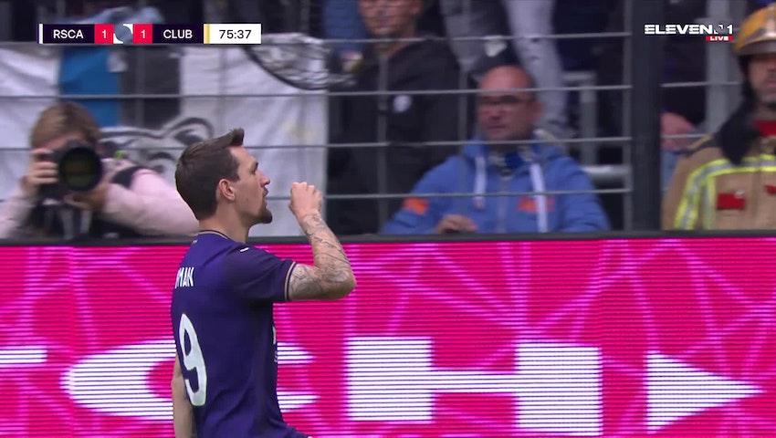 Doelpunt Benito Raman (RSC Anderlecht vs. Club Brugge)