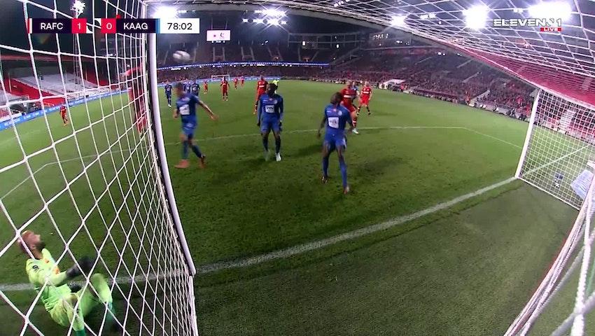 Doelpunt Michael Frey (Royal Antwerp FC vs. KAA Gent)