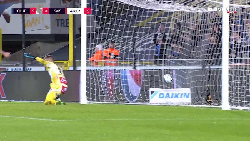 Doelpunt Ruud Vormer (Club Brugge vs. KV Kortrijk)