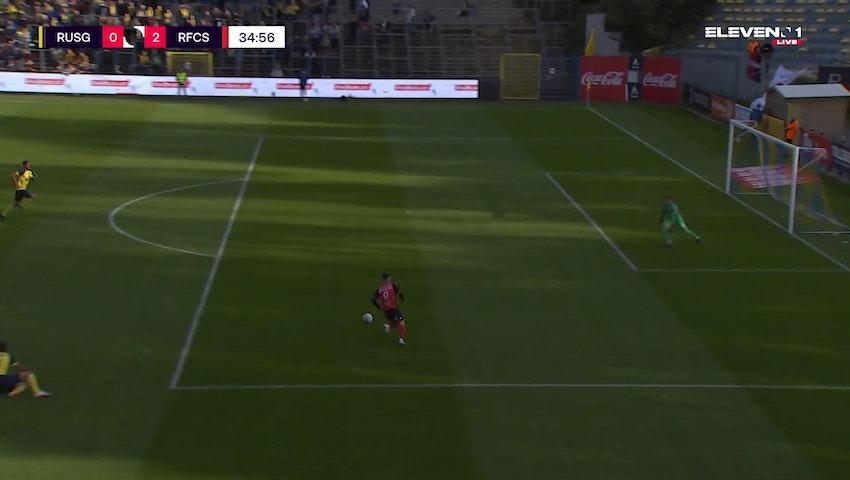 Doelpunt Georges Mikautadze (Union Saint-Gilloise vs. RFC Seraing)