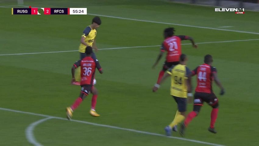 Doelpunt Kaoru Mitoma (Union Saint-Gilloise vs. RFC Seraing)