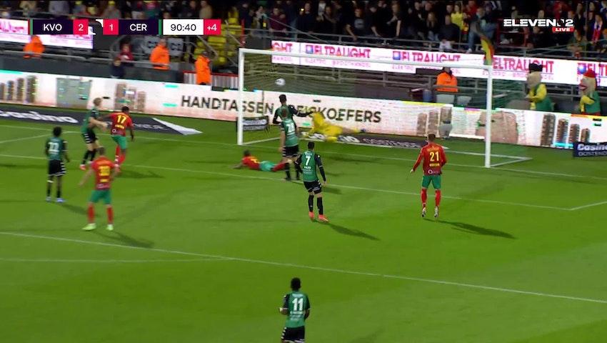 Doelpunt Alfons Amade (KV Oostende vs. Cercle Brugge)