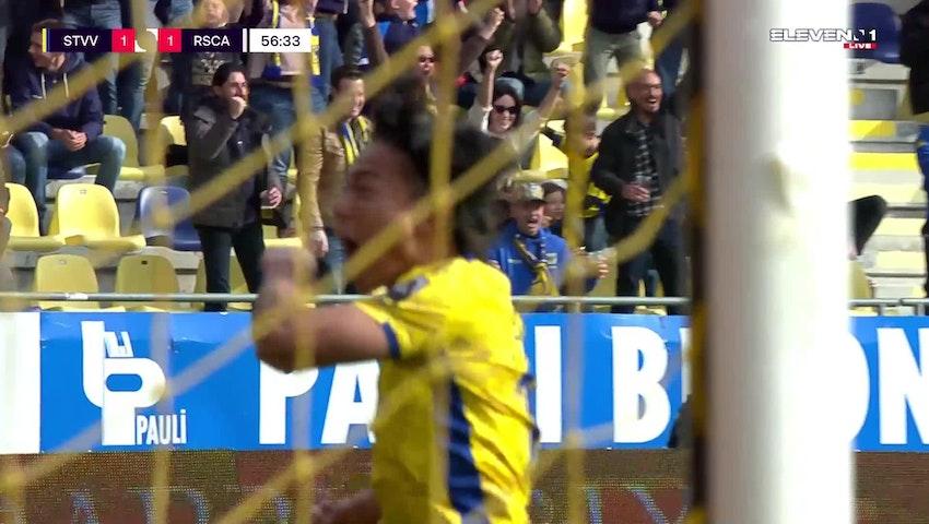 Doelpunt Mory Konate (STVV vs. RSC Anderlecht)