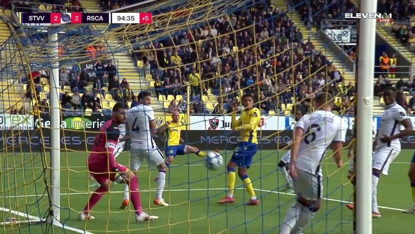 Doelpunt Toni Leistner (STVV vs. RSC Anderlecht)