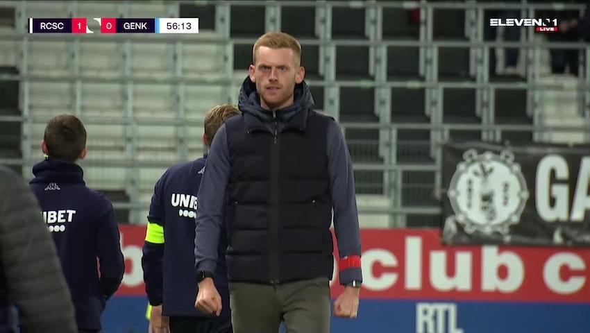 Doelpunt Shamar Nicholson (Sporting Charleroi vs. KRC Genk)