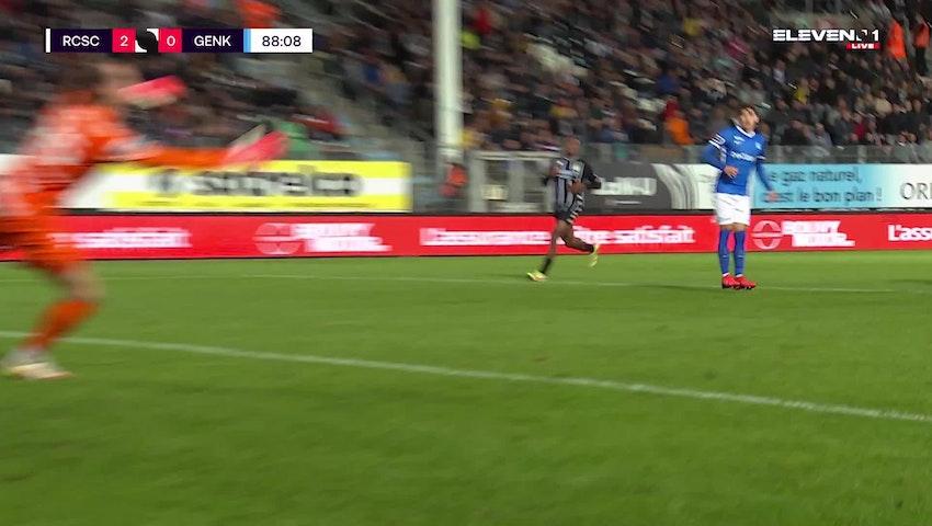 Doelpunt Ali Gholizadeh (Sporting Charleroi vs. KRC Genk)