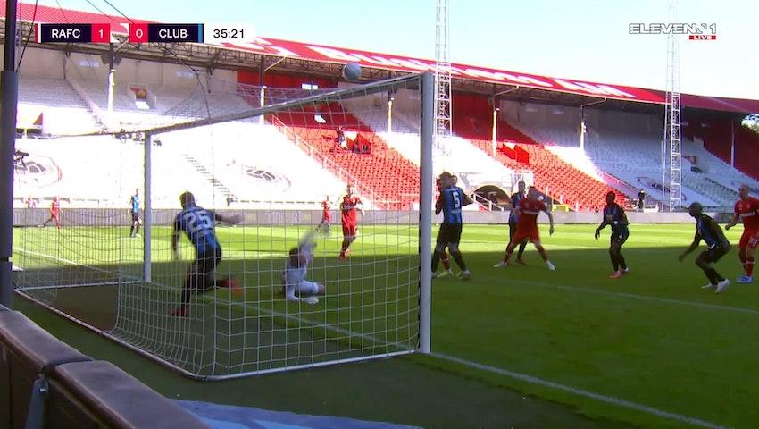 Doelpunt Björn Engels (Royal Antwerp FC vs. Club Brugge)