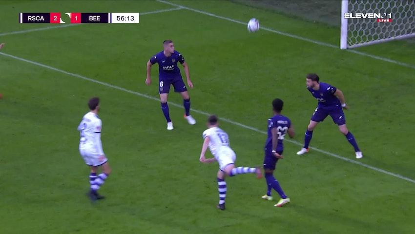 Doelpunt Lawrence Shankland (RSC Anderlecht vs. K. Beerschot V.A.)