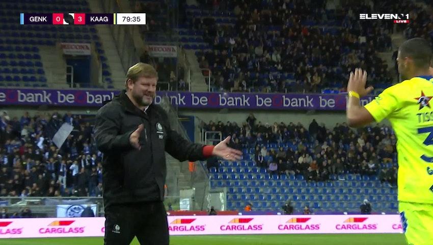 Doelpunt Tarik Tissoudali (KRC Genk vs. KAA Gent)