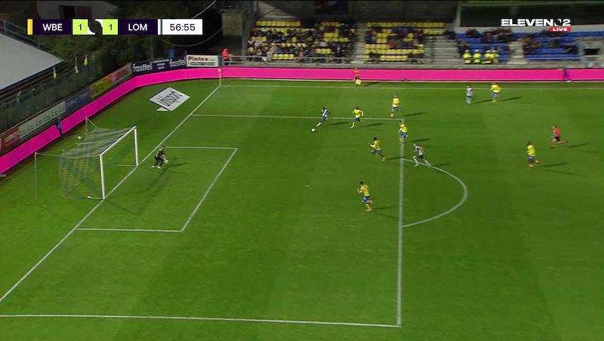 Doelpunt Rafik Belghali (Waasland-Beveren vs. Lommel SK)
